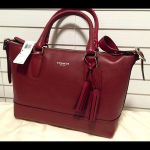Gorgeous Deep Red Coach Handbag NWT